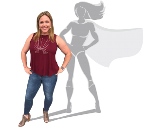 Heather Glogolich with SuperSHEro