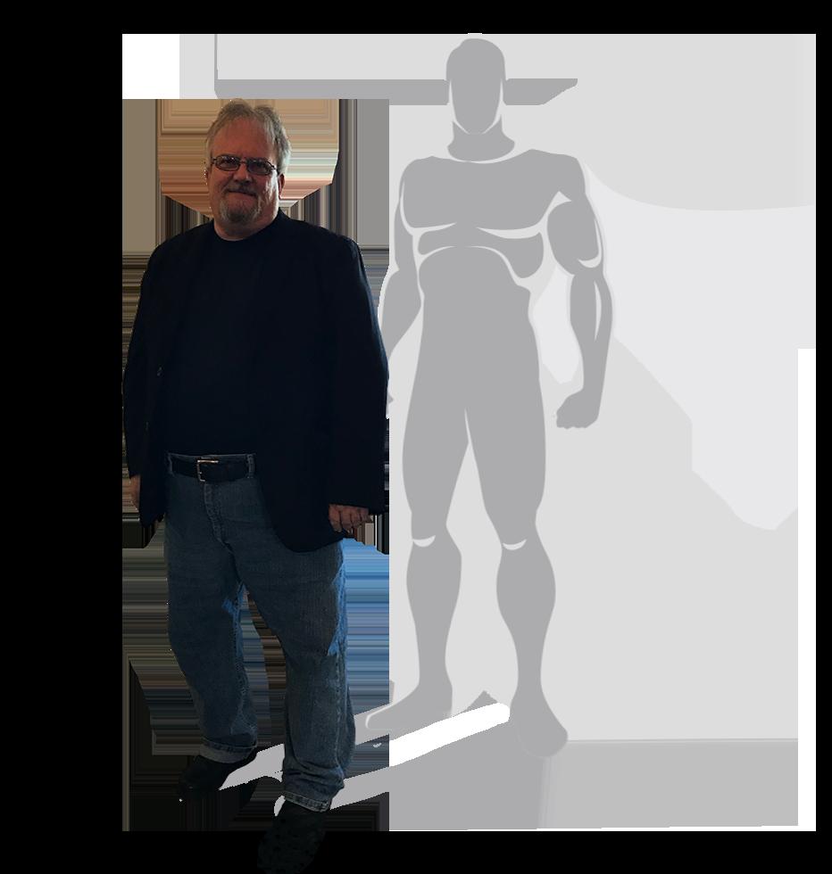 Marcus Padulchick with SuperHEro